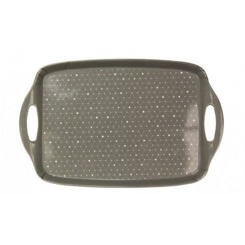 Large Grey Geometric Design Tray